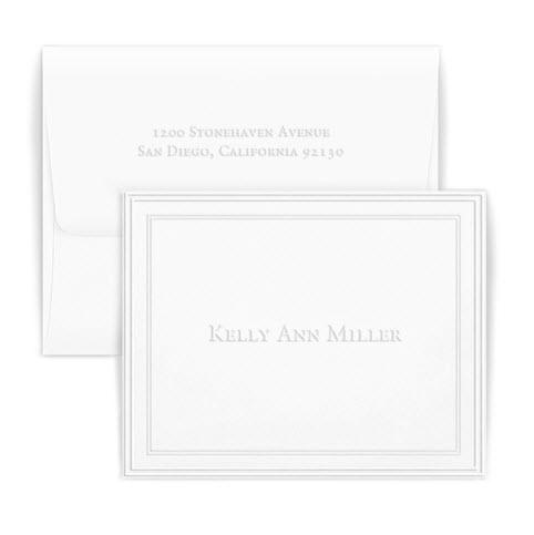 Embossed Graphics Personalized Constance Embossed Foldover Note  Office Supplies > General Supplies > Paper Products > Stationery