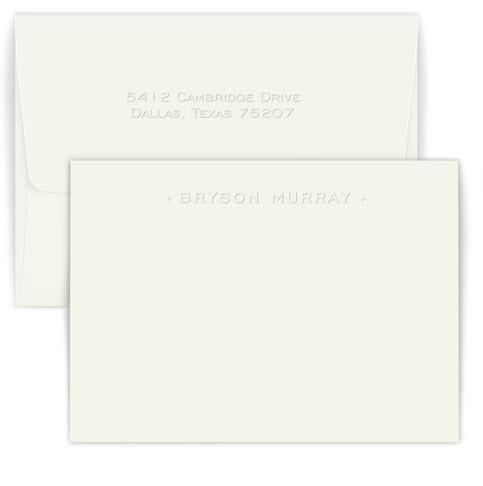 Personalized Embossed One Line Card  Office Supplies > General Supplies > Paper Products > Stationery