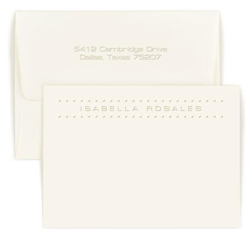 Personalized Marquee Embossed Correspondence Card  Office Supplies > General Supplies > Paper Products > Stationery