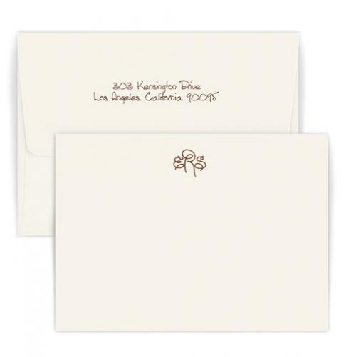Personalized Sydney Monogram Raised Ink Correspondence Card  Office Supplies > General Supplies > Paper Products > Stationery