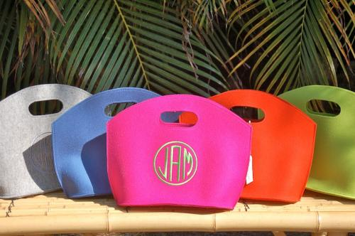 Queen Bea Monogrammed Felt GG Bag  Apparel & Accessories > Handbags > Tote Handbags