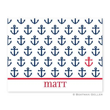 Boatman Geller Personalized Anchor Note  Office Supplies > General Supplies > Paper Products > Stationery