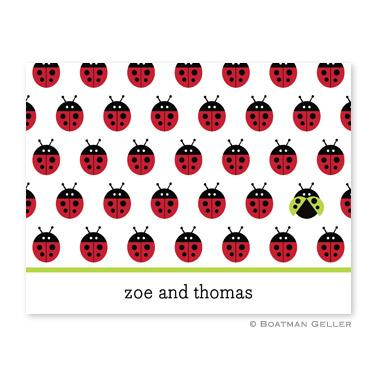 Boatman Geller Personalized Ladybug Foldover Note  Office Supplies > General Supplies > Paper Products > Stationery
