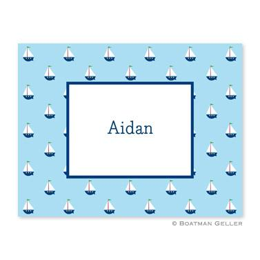 Boatman Geller Personalized Sailboat Note  Office Supplies > General Supplies > Paper Products > Stationery