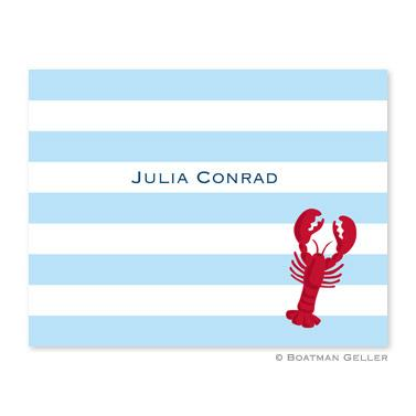 Boatman Geller Personalized Stripe Lobster Note  Office Supplies > General Supplies > Paper Products > Stationery