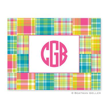 Boatman Geller Personalized Madras Patch Note  Office Supplies > General Supplies > Paper Products > Stationery