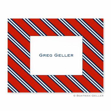 Boatman Geller Personalized Repp Tie Foldover Note  Office Supplies > General Supplies > Paper Products > Stationery