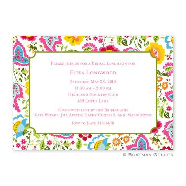 Boatman Geller Personalized Bright Floral Large Flat Card Invitation  Office Supplies > General Supplies > Paper Products > Stationery