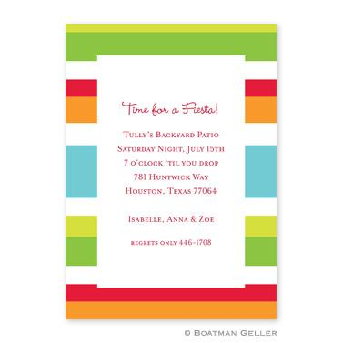 Boatman Geller Personalized Espadrille Bright Flat Card Invitation  Office Supplies > General Supplies > Paper Products > Stationery