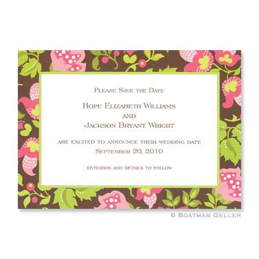 Boatman Geller Personalized Brown Floral Flat Card Invitation  Office Supplies > General Supplies > Paper Products > Stationery