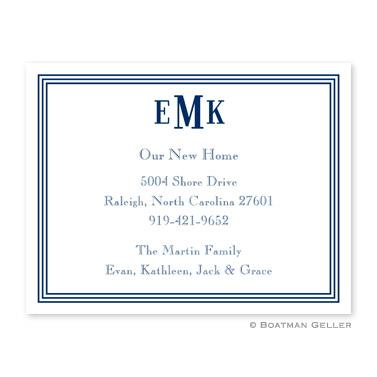 Boatman Geller Personalized Grand Border Navy Flat Card Invitation  Office Supplies > General Supplies > Paper Products > Stationery