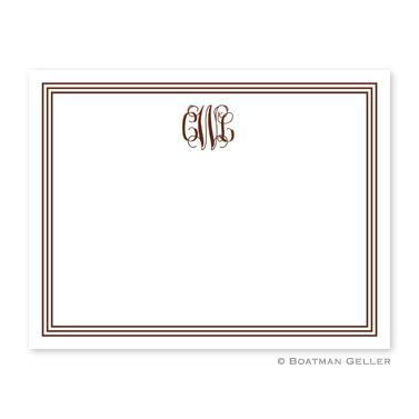 Boatman Geller Personalized Border Flat Card  Office Supplies > General Supplies > Paper Products > Stationery