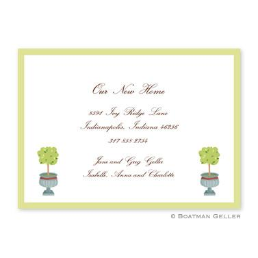 Boatman Geller Personalized Topiary Flat Card Invitation  Office Supplies > General Supplies > Paper Products > Stationery