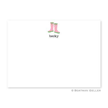Boatman Geller Personalized Wellies Flat Card  Office Supplies > General Supplies > Paper Products > Stationery