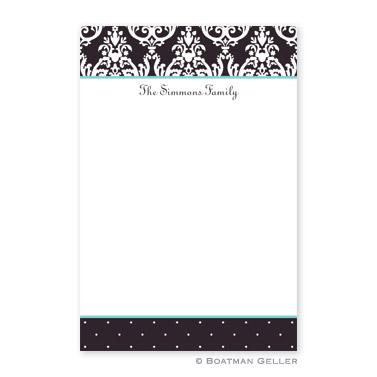 Boatman Geller Personalized Notepad with Block Madison Black Pattern  Office Supplies > General Supplies > Paper Products > Notebooks & Notepads