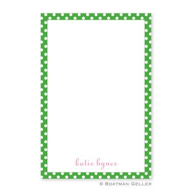 Boatman Geller Personalized Notepad with Dot Green Pattern  Office Supplies > General Supplies > Paper Products > Notebooks & Notepads