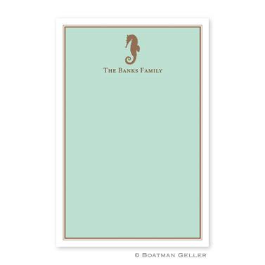 Boatman Geller Personalized Notepad in Seahorse Pattern  Office Supplies > General Supplies > Paper Products > Notebooks & Notepads