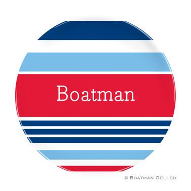 Boatman Geller Personalized Nautical Plate   Home & Garden > Kitchen & Dining > Tableware > Dinnerware > Plates