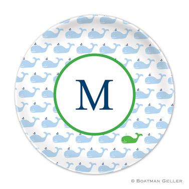 Boatman Geller Personalized Plate with Whale Pattern  Home & Garden > Kitchen & Dining > Tableware > Dinnerware > Plates