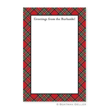 Boatman Geller Personalized Notepad with Plaid Red Pattern  Office Supplies > General Supplies > Paper Products > Notebooks & Notepads