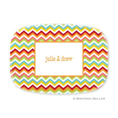Chevron Bright Melamine Platter  Home & Garden > Kitchen & Dining > Tableware > Serveware > Serving Platters