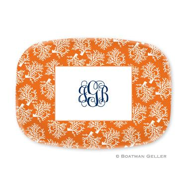 Boatman Geller Personalized Coral Platter  Home & Garden > Kitchen & Dining > Tableware > Serveware > Serving Platters