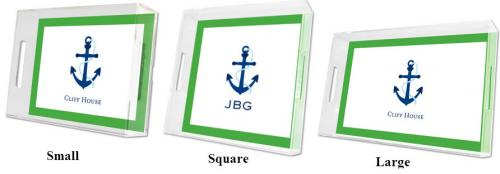 Boatman Geller Personalized Anchor Tray  Home & Garden > Kitchen & Dining > Tableware > Serveware > Serving Trays