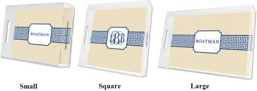 Boatman Geller Personalized Greek Key Tray  Home & Garden > Kitchen & Dining > Tableware > Serveware > Serving Trays