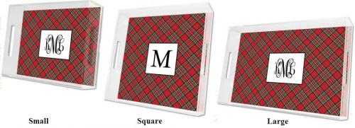 Boatman Geller Personalized Plaid Tray  Home & Garden > Kitchen & Dining > Tableware > Serveware > Serving Trays