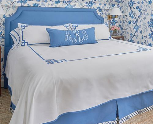 Monogrammed Bed Coverlet by Jane Wilner Designs  Home & Garden > Linens & Bedding > Bedding > Comforters & Comforter Sets