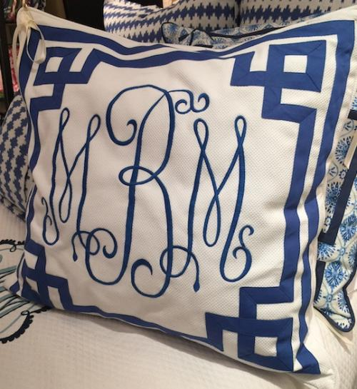 Monogrammed Euro Pillow Sham From Jane Wilner Designs  Home & Garden > Linens & Bedding > Bedding > Pillows