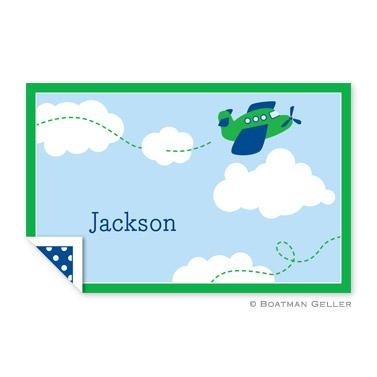 Boatman Geller Personalized Airplane Laminated Placemat  Home & Garden > Linens & Bedding > Table Linens > Placemats