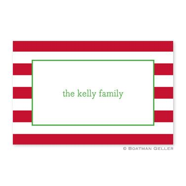 Boatman Geller Personalized Awning Stripe Red Placemat  Home & Garden > Linens & Bedding > Table Linens > Placemats
