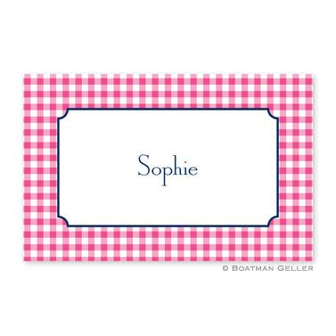 Boatman Geller Personalized Classic Check Raspberry Placemat  Home & Garden > Linens & Bedding > Table Linens > Placemats