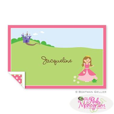 Boatman Geller Personalized Princess Placemat  Home & Garden > Linens & Bedding > Table Linens > Placemats
