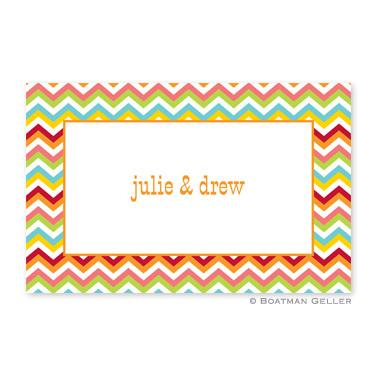 Boatman Geller Personalized Chevron Placemat  Home & Garden > Linens & Bedding > Table Linens > Placemats