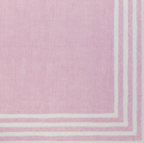 Personalized Stripe Border Pink Napkins  NULL