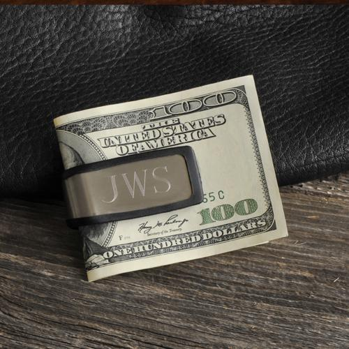 Personalized Money Clip Men's Snug Fit Stainless Steel  Personalized Money Clip Men's Stainless Steel  Apparel & Accessories > Clothing Accessories > Wallets & Money Clips
