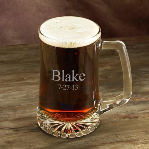 Monogrammed Glass Sports Mug 25 oz. Personalized Sports Mug 25 oz.  Home & Garden > Kitchen & Dining > Tableware > Drinkware > Mugs