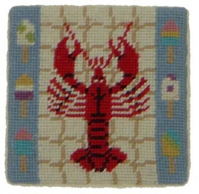 Set of Four Lobster Needlepoint Coasters Lobster Coasters Home & Garden > Kitchen & Dining > Tableware > Trivets