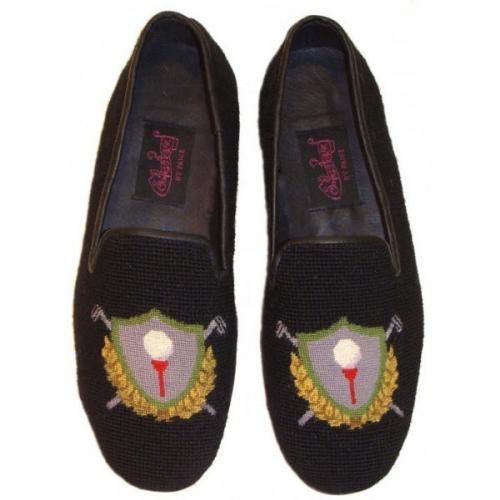 Needlepoint Golf Crest Loafer for Men By Paige  NULL
