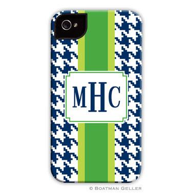 Personalized iPhone Case Alex Houndstooth Navy   Electronics > Communications > Telephony > Mobile Phone Accessories > Mobile Phone Cases