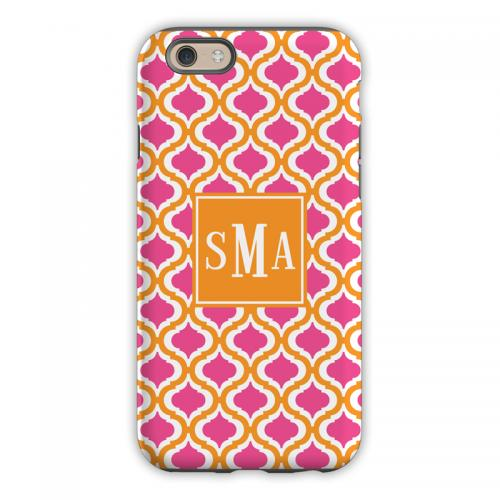 Personalized iPhone Case Kate Raspberry & Tangerine Pattern  Electronics > Communications > Telephony > Mobile Phone Accessories > Mobile Phone Cases