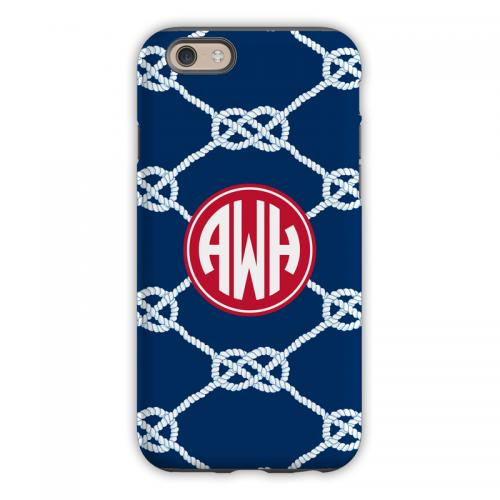 Personalized iPhone Case Nautical Knot Navy   Electronics > Communications > Telephony > Mobile Phone Accessories > Mobile Phone Cases