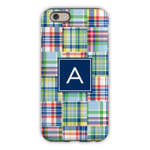 Personalized iPhone Case Madras Patch   Electronics > Communications > Telephony > Mobile Phone Accessories > Mobile Phone Cases