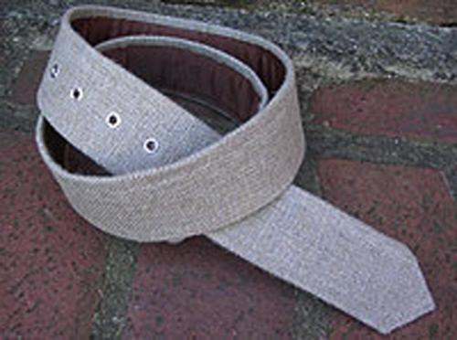 Loopty Loo Linen Burlap Fabric Belt  Apparel & Accessories > Clothing Accessories > Belts