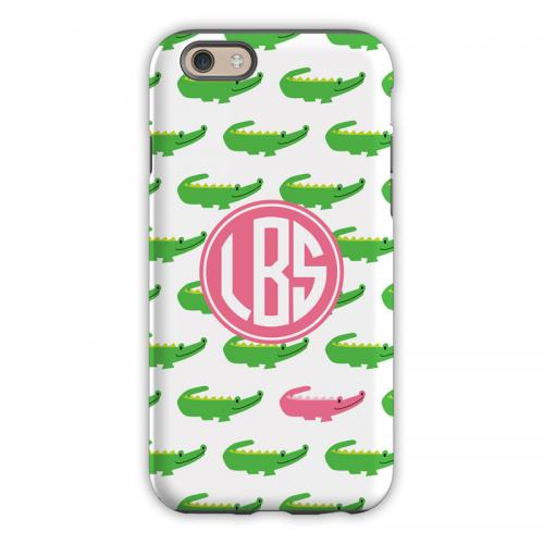 Personalized iPhone Case Alligator Repeat   Electronics > Communications > Telephony > Mobile Phone Accessories > Mobile Phone Cases