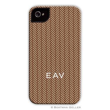 Personalized iPhone Case Herringbone Brown   Electronics > Communications > Telephony > Mobile Phone Accessories > Mobile Phone Cases