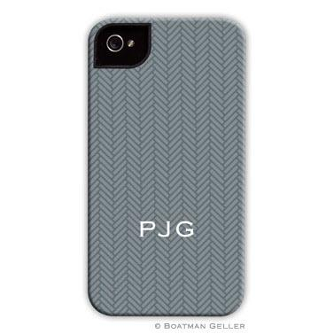 Personalized iPhone Case Herringbone Gray   Electronics > Communications > Telephony > Mobile Phone Accessories > Mobile Phone Cases
