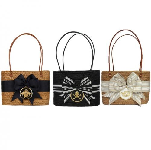 Large Oval Bali Bag Bow Round Motif   Apparel & Accessories > Handbags